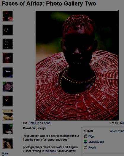 a7bcf41967 Especial Faces of Africa do site da National Geographic mostra galeria de  fotos e nenhum fotografado identificado